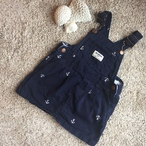 OshKosh B'Gosh 18 M Overall Dress Anchors Navy